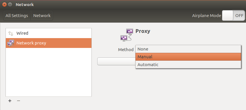 Ubuntu network proxy